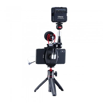 Ulanzi ST-13 Wireless Quick Charge Phone Holder Clamp with 1/4 Screw Cold Shoe Mount Compatible with Microphone LED Light Tripod